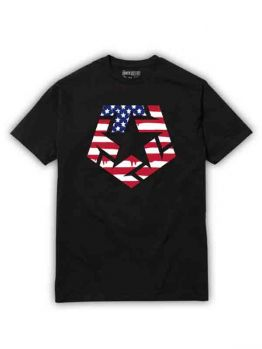 Tribal t-shirt (Flag T-Star)- Black