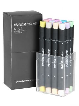 Stylefile Classic 12 Markers Set (Pastel Set)