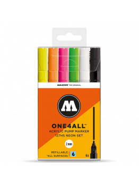 Molotow 127HS (6 Markers Kit) - Neon Kit