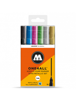 Molotow 127HS (6 Markers Kit) - Metallic Kit