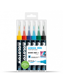 Molotow GRAFX Aqua Ink Softliner (6 Markers - basic set 1)
