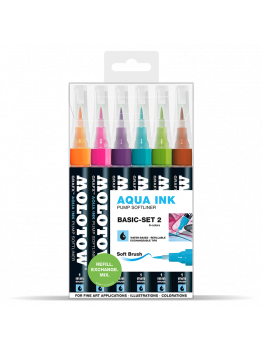 Molotow GRAFX Aqua Ink Softliner (6 Markers - basic set 2)
