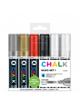 Molotow Chalk Markers 4-8mm (Basic Set 1)