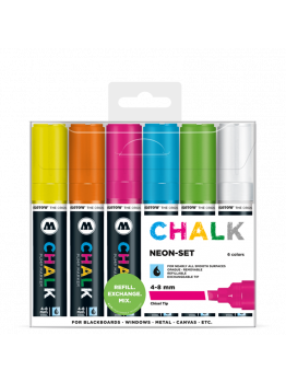 Molotow Chalk Markers 4-8mm (Neon set)