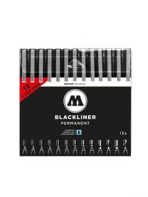 Molotow Blackliner complete set (13 Fineliner)