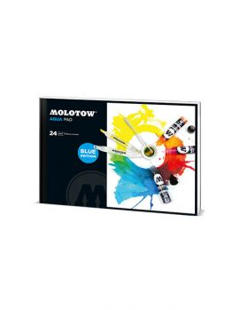 MOLOTOW AQUA Pad (27 x 19,5 cm) BLUE edition