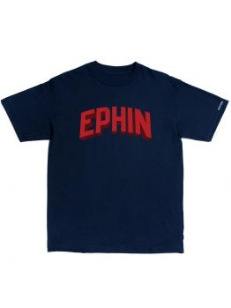 Ephin T-Shirt (3D Block Letter)- Red/Navy