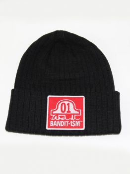 BANDIT-1$M Beanie Red Bandit1sm Patch (Black)