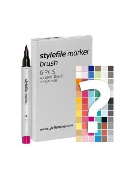 Stylefile 6 Brush Marker Set (Tryout Kit)