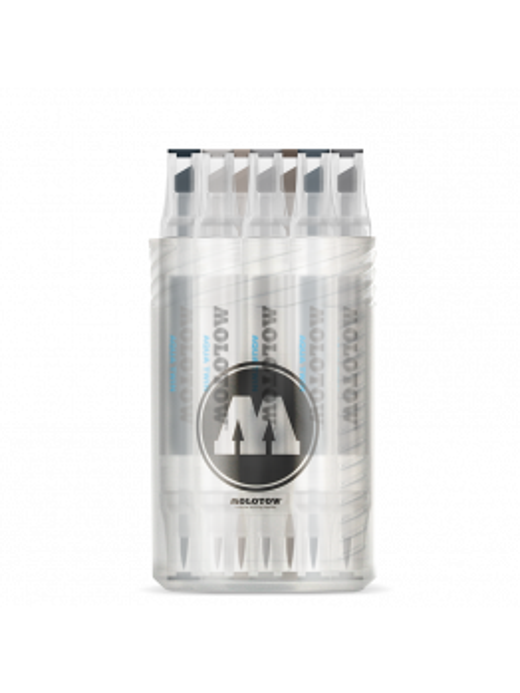 Molotow Aqua Twin Complete Set Grey - (12 Markers)