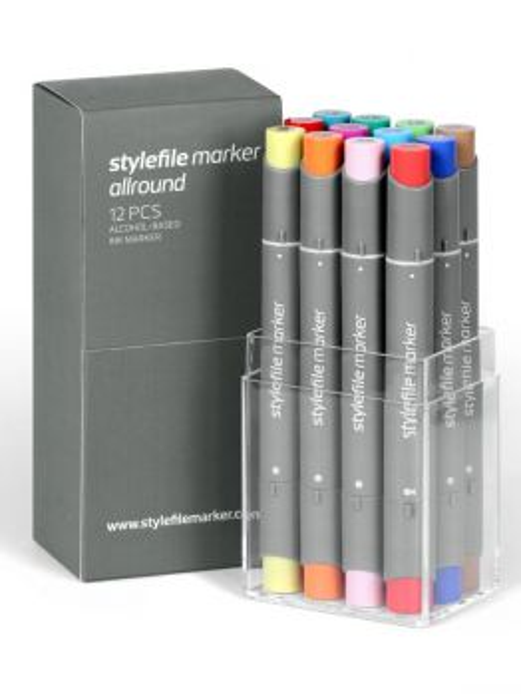Stylefile Allround 12 marker (set B)