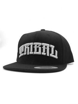 Tribal Snapback (Arched) - Black/White