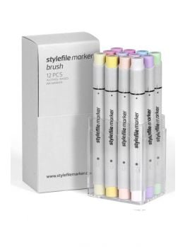 Stylefile 12 Brush Marker Set (Pastel)