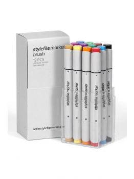 Stylefile 12 Brush Marker Set (Main A)