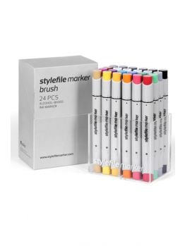 Stylefile 24 Brush Marker Set (Main B)