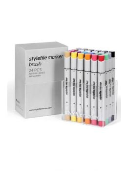 Stylefile 24 Brush Marker Set (Main A)