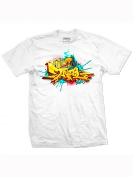 Tribal T-Shirt (Baker Train) - White