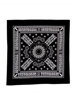 Tribal Bandana - Black/White