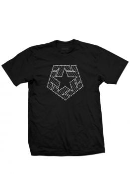 Tribal T-Shirt (Barbed Wire) - Black