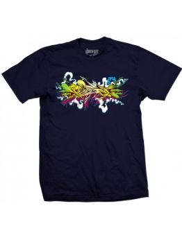 Tribal T-shirt (BASIX BURNER) - Navy Blue
