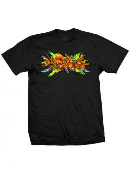 Tribal T-Shirt (Basix Orange) - Black