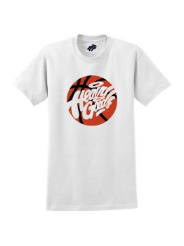 Heavy Goods T-shirt (Basket Ball logo) - White