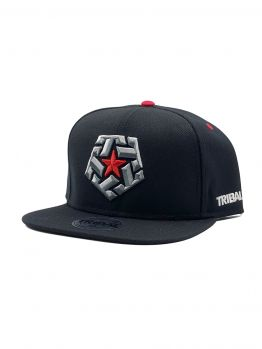 Tribal Snapback (Bevel Star) - Black