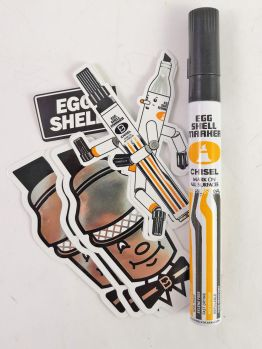 Egg Shell Stickers - Black is Beautiful Chisel marker Pack