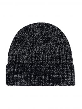 Blanks - Jersey Knit Beanie (Black/Dark Grey)