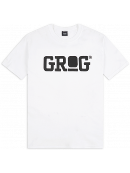 Grog T-shirt (Logo) - Black on White