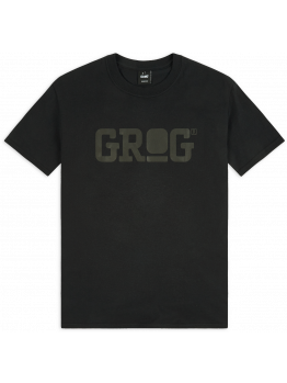 Grog T-shirt (Logo) - Black on Black