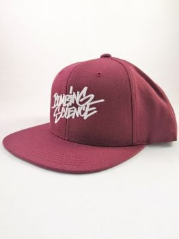Bombing Science Snapback (Shok handstyle) - Burgundy