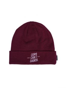 Mr.Serious Beanie (Cops Can't Dance) - Maroon Red