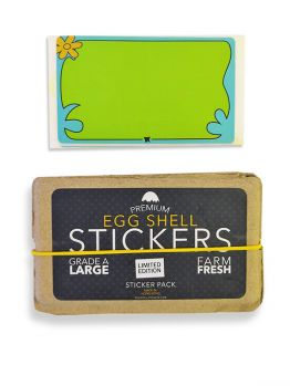 Egg Shell Stickers (Scooby Doo Blanks)