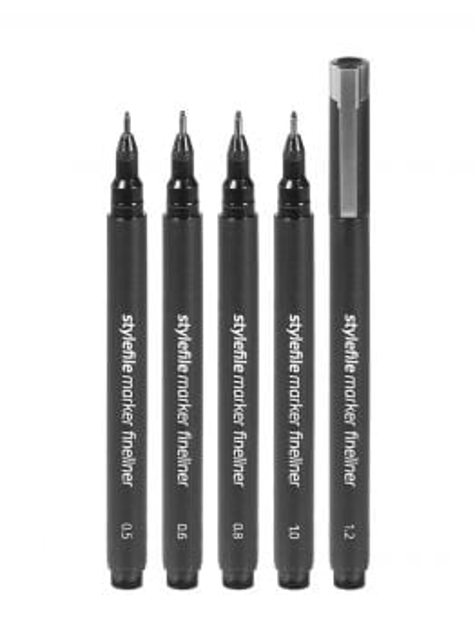 Stylefile Fineliner Marker set (BOLD) - 5 Pack