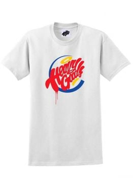 Heavy Goods T-shirt (Hamburger Gang) - White