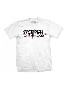 Tribal T-shirt (Happy Flares) - White