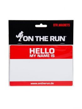 OTR Magnet (Hello My Name Is ) - Medium Red