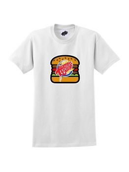 Heavy Goods T-shirt (Burger Box logo) - White
