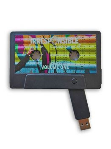 """IRRESPONSIBLE"" VOL. I & II USB Drive Cassette"