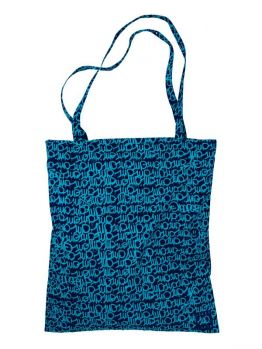 """1up Tote Bag """"Lousy 1up Livin 5.0"""" - Navy/Blue"""