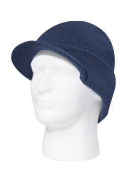 Blanks - Knit Beanie with Visor (Navy)