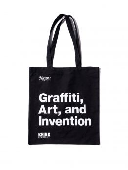 Krink Black Tote bag - Graffiti, Art, Invention