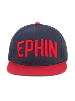 Ephin Block letter Snapback- Red/Navy
