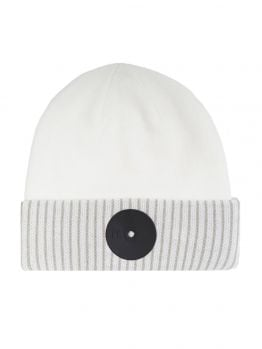 Mr.Serious Beanie (New York Fat) - White/Black