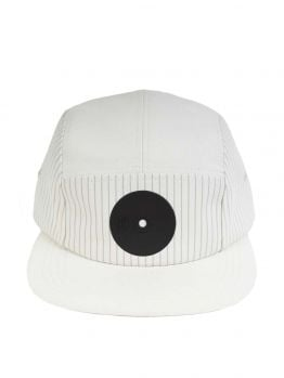 Mr.Serious Five Panel Hat (New York Fat cap) - White/Black