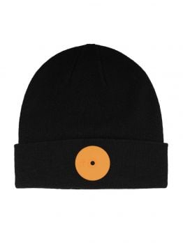 Mr.Serious Beanie (Orange Dot Fat) - Black/Orange
