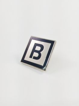 Bombing Science lapel pin (Squared)
