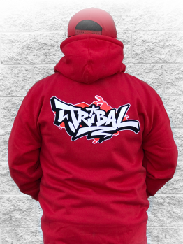 Tribal Zip-up (Drain) - Red