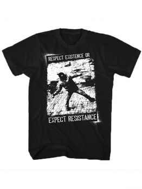 Indecline T-shirt (Respect Existence) - Black
